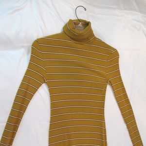 Urban Outfitter's Yellow Turtleneck Dress